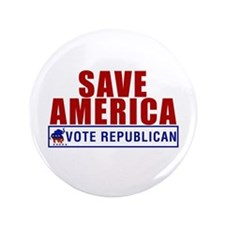 "Save America Vote Republican 3.5"" Button"
