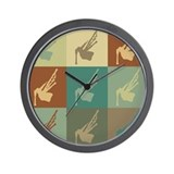 Bagpipes Pop Art Wall Clock