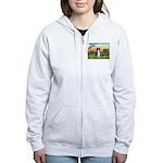 Bright Country/Border Collie Women's Zip Hoodie