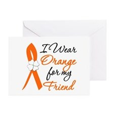 I Wear Orange For My Friend Greeting Cards (Pk of