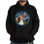 Starry Night Beagle #1 Hoodie (dark)