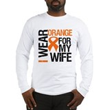 I Wear Orange For My Wife Long Sleeve T-Shirt