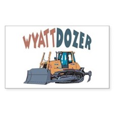 Wyattdozer the Bulldozer Rectangle Decal
