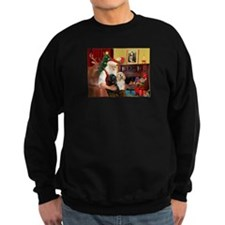 Santa's 2 Cockers Sweatshirt