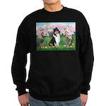 Blossoms / Collie (tri) Sweatshirt (dark)
