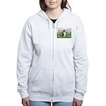 Blossoms / Collie (tri) Women's Zip Hoodie