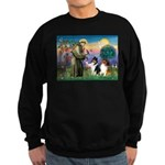 St Francis / Collie Pair Sweatshirt (dark)