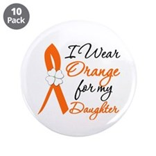 """I Wear Orange For My Daughter 3.5"""" Button (10 pack"""