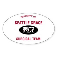 Greys Rocks Oval Decal