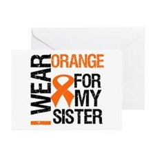 I Wear Orange For My Sister Greeting Cards (Pk of