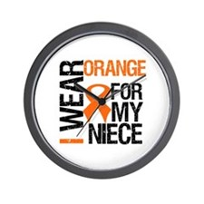I Wear Orange Niece Wall Clock