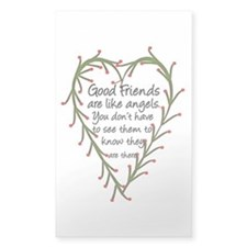 Friends Are Like Angels Rectangle Sticker 50 pk)