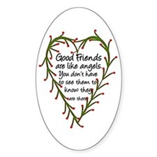 Friends Are Like Angels Oval Decal