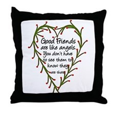 Friends Are Like Angels Throw Pillow