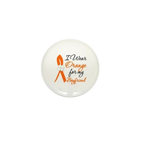 I Wear Orange For My Boy Friend Mini Button (10 pa