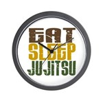 Eat Sleep Ju Jitsu Wall Clock