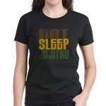 Eat Sleep Ju Jitsu Women's Dark T-Shirt