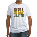 Eat Sleep Ju Jitsu Fitted T-Shirt
