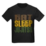 Eat Sleep Ju Jitsu Kids Dark T-Shirt