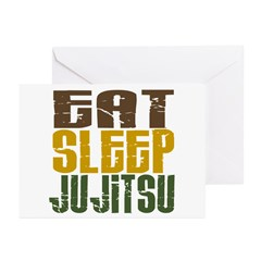 Eat Sleep Ju Jitsu Greeting Cards (Pk of 20)
