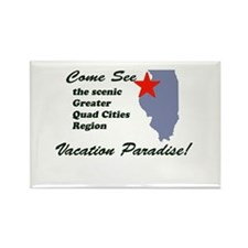 Come See The Quad Cities Rectangle Magnet