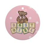 Baby Girl Ornament (Round)