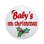 Baby's 1st Christmas Ornament (Round)
