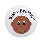 African American Baby Brother Ornament