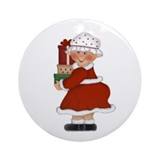 Mrs. Claus Ornament (Round)