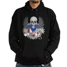 Puerto Rico Wings and Skull Hoodie