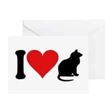 I Love Cats (design) Greeting Card