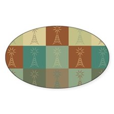 Amateur Radio Pop Art Oval Decal
