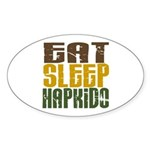 Eat Sleep Hapkido Oval Sticker