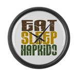 Eat Sleep Hapkido Large Wall Clock