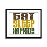 Eat Sleep Hapkido Framed Panel Print