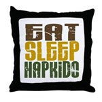 Eat Sleep Hapkido Throw Pillow