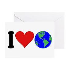 I Love Earth (design) Greeting Card