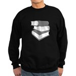 Stack Of Gray Books Sweatshirt (dark)