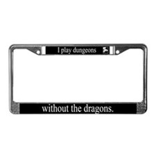 Dungeons Without Dragons License Plate Frame
