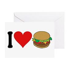 I Love Hamburgers (design) Greeting Card
