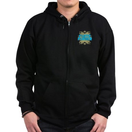 Star Flute Player Zip Hoodie (dark)