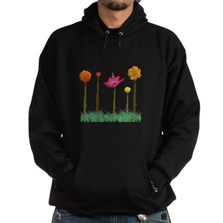 Flute Flowers Hoodie (dark)