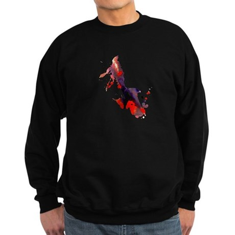 Paint Splat Saxophone Sweatshirt (dark)