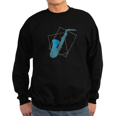Blue Saxophone Sweatshirt (dark)