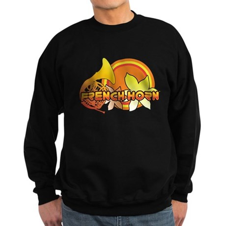 Retro French Horn Sweatshirt (dark)