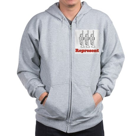 Trumpet &quot;Represent&quot; Zip Hoodie