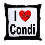 I Love Condi Throw Pillow