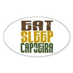 Eat Sleep Capoeira Oval Sticker
