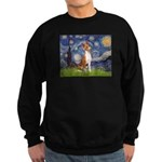 Starry Night & Basenji Sweatshirt (dark)