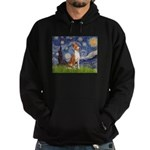 Starry Night & Basenji Hoodie (dark)